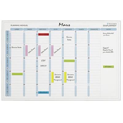 Planning magnétique mensuel Exacompta - 90 x 59 cm - avec accessoires