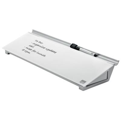 Bloc-Notes personnel Nobo - surface en verre trempé - 60 x 460 mm - blanc brillant