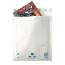 Pochettes bulle d'air blanches avec bande de protection - 110x165 - paquet de 10 (photo)
