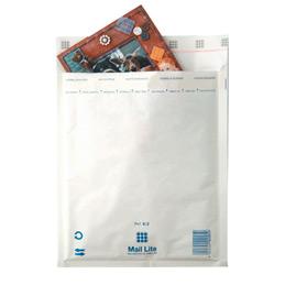 Pochettes bulle d'air blanches avec bande de protection - 120x215 - paquet de 10 (photo)