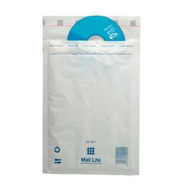 Pochettes bulle d'air blanches avec bande de protection - 180x260 - paquet de 10 (photo)