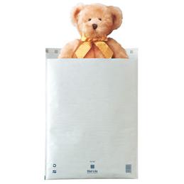 Pochettes bulle d'air blanches avec bande de protection - 350x470 - paquet de 10 (photo)