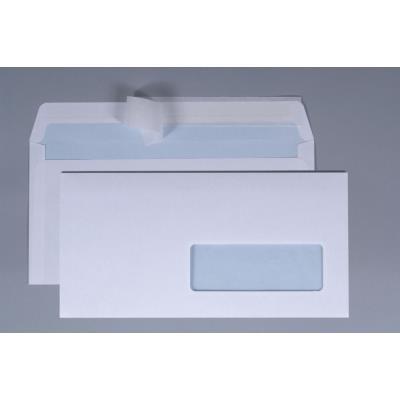 Enveloppe blanche La Couronne - format DL - 220 x 110 mm - sans fenêtre - 100 g/m² - fermeture avec bande autoadhésive - paquet 200 unités