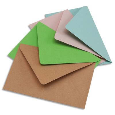 Enveloppes élection La Couronne - 75g - 9 x 14 cm - coloris assortis bleu/bulle/rose/vert - boîte de 200 (photo)