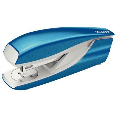Agrafeuse de table Leitz 5502 - pour agrafes 24/6 et 26/6  - bleue azur métalisée - capacité 30 feuilles