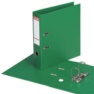 Classeur à levier Esselte - dos de 7,5 cm - plastifié intérieur et extérieur - vert