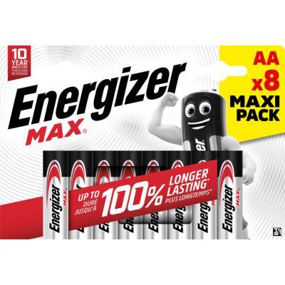 Piles AA LR6 Energizer Max - blister de 8 piles
