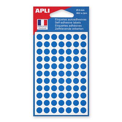 Sac de 463 disques adhésis - 8mm - bleu