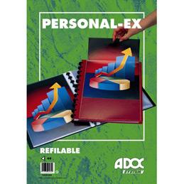 Reliure de pr�sentation ADOC - A4 - Couverture rigide 'd�bordante' personnalisable - 60 vues - bordeaux