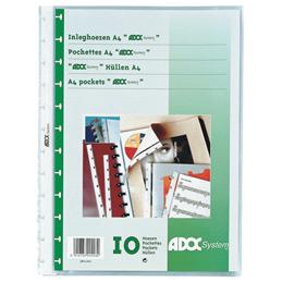 Pochettes perforées Adoc System - A4 - paquet de 10 (photo)