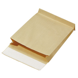 Pochettes kraft armé brun à 3 soufflets avec bande de protection - 280x375 - 130 g - paquet de 50 (photo)