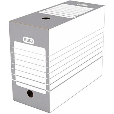 Boîte à archives en carton Elba - dos 15 cm - montage automatique - pour archivage à long terme