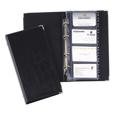 Porte-cartes Durable Visifix - 12 compartiments - pré-imprimé : A-Z - 57 x 90 mm - capacité de 200 cartes - avec index alphabétique - noir
