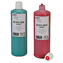 Acrylique brillante - 500ml - Artplus - bleu primaire (photo)