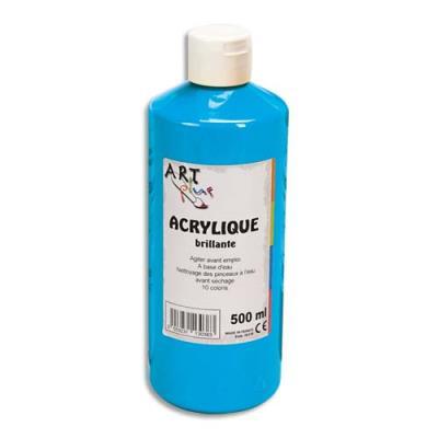 Acrylique brillante - 500ml - Artplus - bleu primaire