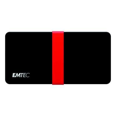 Disque SSD portable X200 Power Plus Emtec - USB-C 3.1 Gen 1 - 128 Go - noir