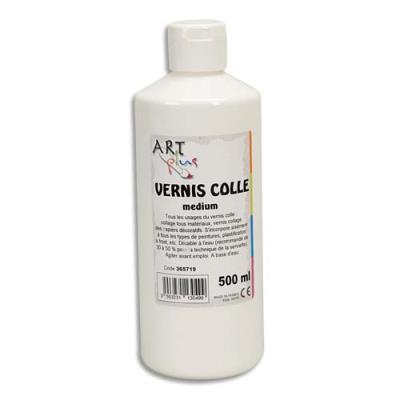 Vernis colle medium Plus - flacon de 500 ml