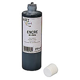 Encre de chine noir Artplus en flacon 250 ml (photo)