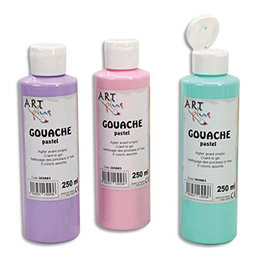 Coffret de 6 x 250ml gouache pastel assorties Artplus (photo)