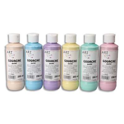 Coffret de 6 x 250ml gouache pastel assorties Artplus