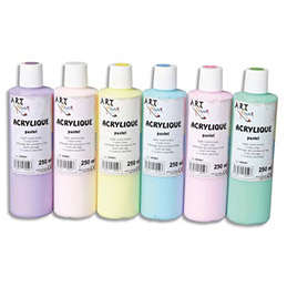 Acrylique pastel - Coffret de 6 x 250ml - Artplus-  assortiment (photo)