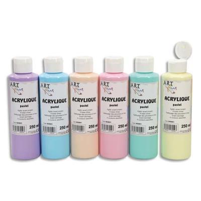 Acrylique pastel - Coffret de 6 x 250ml - Artplus-  assortiment