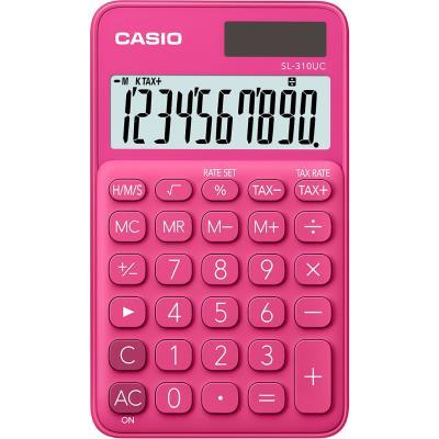 Calculatrice de poche Casio - 10 chiffres - rose