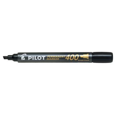 Marqueur permanent Pilot Market 400 - pointe biseautée large - noir