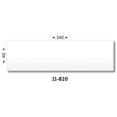 Etiquettes d'affranchissement 1 front - format 14 x 4 cm - boîte de 1000
