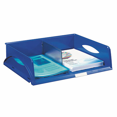 Corbeille Leitz Sorty - format paysage A3 jumbo - L 50,7 x H 12,7 x P 50,7 cm - bleu