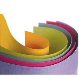 Feuilles de papier Canson couleur 160g 'Mi-teintes' - 50x65 cm - coloris assortis vif - paquet de 24 feuilles (photo)