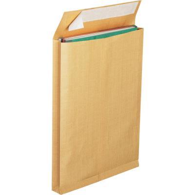 Pochette La Couronne pour catalogue - kraft - 30 x 275 x 365 mm - 130 g/m² fermeture autocollante - brun - lot de 25
