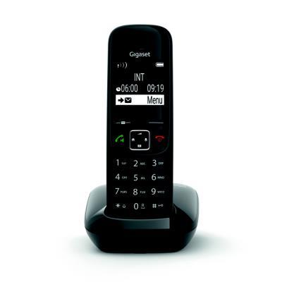 Téléphone sans fil AS690 Gigaset - noir (photo)
