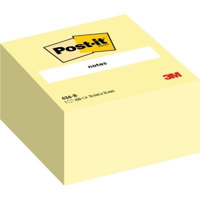 Cube Post-it - 76 x 76 mm - 450 feuilles - jaune