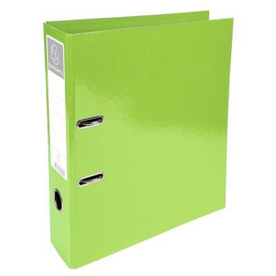 Classeur à levier Exacompta Iderama - en carton pelliculé - dos 7 cm - A4+ - vert clair