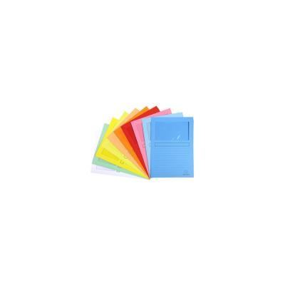 Pochettes coins Exacompta Super - en carte 160g - avec fenêtre - coloris assortis 10 couleurs - paquet de 100