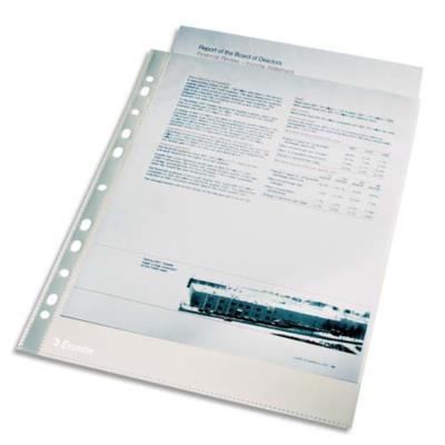 Sachet de 100 pochettes perforées A4 en polypropylène lisse 4/100e - incolore