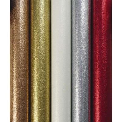 Rouleau de papier cadeau Clairefontaine - 70 g - 1,5 x 0,7 m - métallisé uni pailleté - 5 coloris assortis