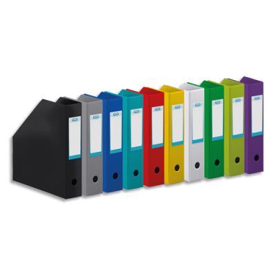 Porte-revues Elba - en PVC soudé - 32 x 24 cm - dos de 7cm - livré à plat - coloris assortis 10 couleurs