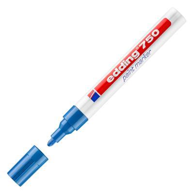 Marqueur peinture Edding E750 - laque bleu - pointe moyenne ogive