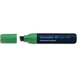 Marqueur permanent schneider maxx 280 pointe biseautée épaisseur de trait 412mm encre verte