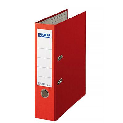 Classeur à levier Pergamy - en polypropylène extérieur/intérieur papier - dos 8 cm - rouge