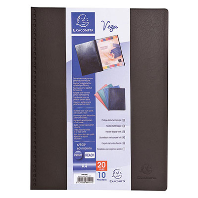 Protège-documents Exacompta Vega - 30 pochettes - noir