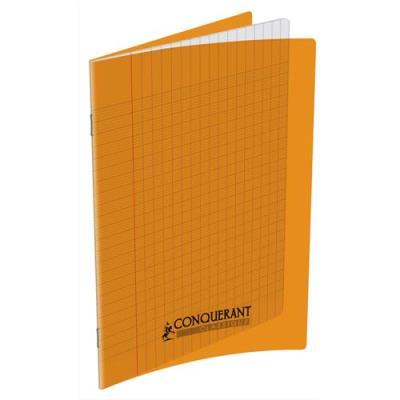 Cahier piqûre Conquérant classique - couverture polypropylène - 90 g - 17 x 22 - 48 pages - Seyès -