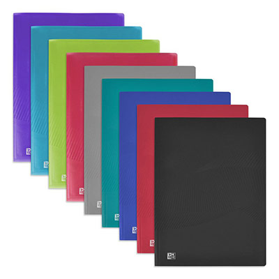 Protège-documents Oxford Osmose A4 - 80 pochettes en polypropylène - couvertures opaques/translucides coloris assortis