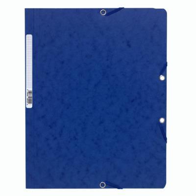 Chemise Exacompta Nature Future A4 à fermeture élastique sans rabat - 250 feuilles - 240 x 320 mm -  carte - bleu