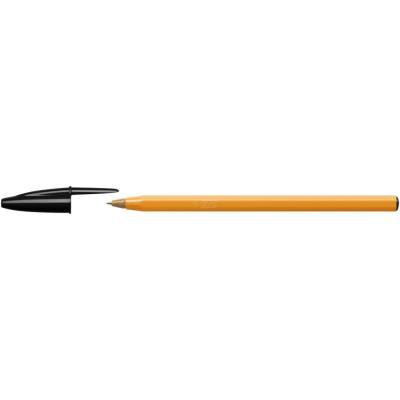Stylo bille Bic orange - pointe fine - 0,8 mm - corps orange - encre noire