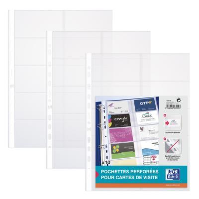 Pochette pour cartes de visite - Qualité + - lot de 10