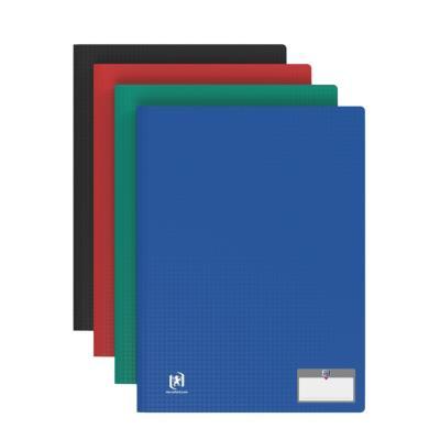 Protege document Elba 100 pochettes/200 vues - en polypropylene memphis - assortis classique -