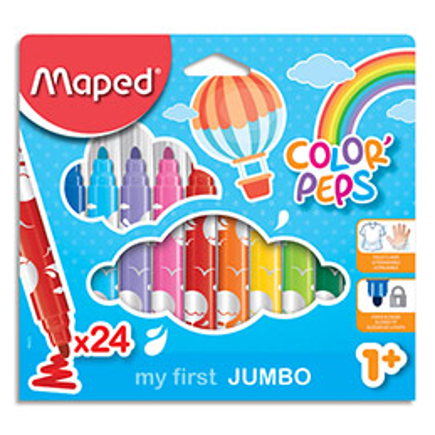 Feutres Maped Jumbo Early Age - pochette de 24